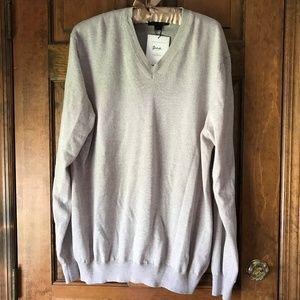 Black Brown Meriono V-Neck Sweater Granite XL
